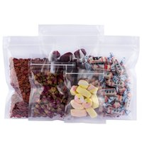 Multi-sizes Transparent Zip Lock Flat Bottom Candy Packing Bags Resealable Food Grade Zipper Sealing Plastic Clear Packaging Bag