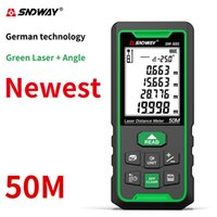 Sndway الأخضر الليزر rangefinder الرقمية المسافة متر 50 متر 70 متر 100 متر الالكترونية الروليت الليزر المدى مكتشف قياس lazer trena T200603