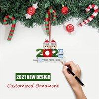 2021 عيد الميلاد الديكور الحجرية الحلي الأسرة من 1-9 رؤساء diy شجرة قلادة اكسسوارات مع راتنج حبل في المخزون