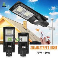 All in one Solar Powered Light LED Street Lamps 70W 150W high brightness 5730SMD IP66 Waterproof Outdoor lighting for Plaza Garden