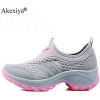 Hiking shoes boot Akexiya arrival Style Women Climbing Shoes Outdoor Sports Jogging Fitness Walking Wedge Sneakers 0914
