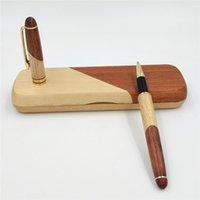1 مجموعة خمر اليدوية خشبية علامة القلم + القلم مربع الجملة الأسطوانة القلم لمكتب الأعمال هدية المدرسة