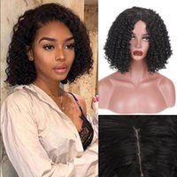 Black Ladies Curly Hair Synthetic Wig Bob Brazil Short Wigs