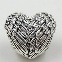 2015 Autumn New 925 Sterling SilverAngelic Feathers Charm Bead Fits European Pandora Jewelry Bracelets & Necklace
