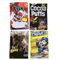 Trix Cocoa Reese'nin Boş Yerler Ambalaj Çantası Crunch Çilek Mylar Stand Up Kılıfı Fermuar Sıfırlanabilir