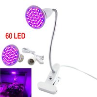 Indoor Growing 60 Led Lights Plant Growth Bulbs Lamp With Flexible Holder Desk Clip Or AC Cable Flower GreenHouse Grow