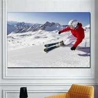 Modern Skiing Sport Print Canvas Painting Poster Snowboarding Snow Mountain Wingsuit Flying Wall Decor Art For Room Cuadros