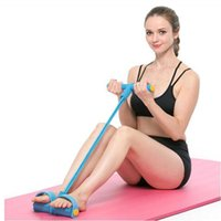 Resistance Bands Multi-function Tension Rope For Exercises Elastics Tape Fitness 4 Tube Elastic Pedal Ankle Puller