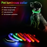 LED Chargeable Pet Dog Collars Night Safety Flashing Pets Anti-Lost Car Accident Glow Leash Dogs Luminous Fluorescent