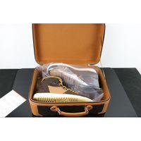 DHL Libre DHL Off Browon Black Brwon 1 1S Mens Bottes Chaussures Trois Baskets Fashion Sneakers Formateurs Chaussures de sport avec valise Taille 40-46