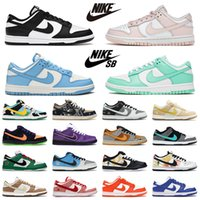 Nike SB Dunk hombres mujeres Zapatos casuales Chunky Dunky UNC Coast Negro Blanco Verde Resplandor What The hunky Dunky What The UNC Black White Coast Green Glow Dunk zapatillas