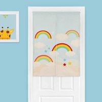 Carpets Cartoon Animal Linen Door Curtain Children's Study Bedroom Tapestry Home Decor Kitchen