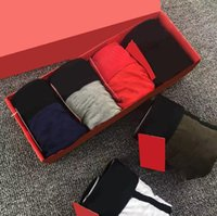 Hommes Shorts Designers Sexy Sous-vêtements Boxers classiques Casual Coton Coton Sous-vêtements respirants Sous-vêtements 4pcs avec boîte