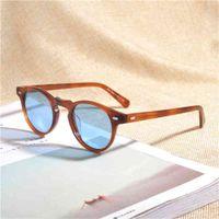 Gafas de sol de moda Gregory Pinque Vintage Polarizadas Gafas de sol OV5186 Claro Marco Diseñador de marca Hombres Mujeres OV 5186 Gafas Oculos con caso