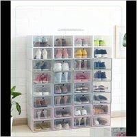 박스 쓰레기 주사지 조직 정원 드롭 배달 2021 3pcs / lot 투명한 신발 홈 organiz에 대 한 다기능 플라스틱 저장 상자