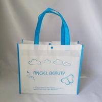 Einkaufstüten Großhandel 1000pcs / lot Recycling Weiße nicht gewebte Einkaufstasche Handtasche für Schuhe Geschenke Verpackung Polypropylen Werbeaktion