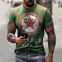 Troughy Guy Style Palm Print Men's 3D T Shirt Fiesta de manga corta Top Street Punk Gothic Cuello redondo Verano