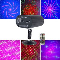 Mini Lazer Aydınlatma 48 Desenler Ev LED Disko Işık Profesyonel DJ Sahne 3 Delik Lazer Projektör Işıkları Müzik Kontrol Parti Işık