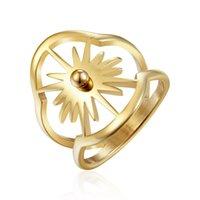 Sun evil power supernatural stainless steel hollow ring