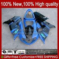 PAQUEMAS OEM PARA SUZUKI SRAD TL-1000 TL 1000 R TL1000R GLOSSY BLUE TL-1000R 98-03 Bodywork 19HC.36 TL1000 R 98 99 00 01 02 03 TL 1000R 1998 1999 2000 2001 2002 2003 Kit de cuerpo