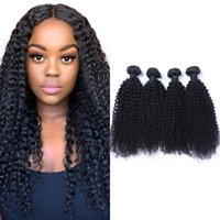 Human Hair Kinky Curly Bundles Peruvian Non Remy 3 or 4 Pieces lot Double Weft Arican American 8-26 inch