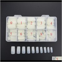 500 Pçsset Diferentes Tamanhos Moda Capa Completa Natural Falso Nail Art Artificial Acrílico Gel UV Manicure Set DIY com Box Beauty BH1KF NA ZUPDB