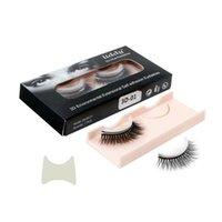 False Eyelashes 3 Pairs Natural Curly Self-Adhesive Reusable Extension Self-stick Glue Eye Lashes