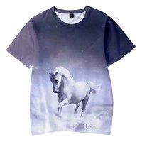 Animal Horse 3d Print T Shirt Women Men Boys Girls Summer O-neck Short Sleeve Funny Tshirt Graphic Tees Streetwear Harajuku Tops