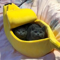 Cat Beds & Furniture Banana Shape Pet Dog Bed Nesk House Mat Durable Kennel Doggy Puppy Cushion Basket Warm Portable Supplies S M L XL