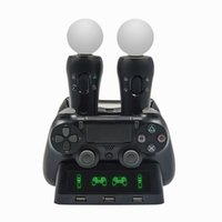 Charging Dock for PS4 Gamepad PS4 PS MOVE PS VR Game Controller Stand 4 Charger 3 USB Handle PlayStation 4 Wholesale Dropship G0928