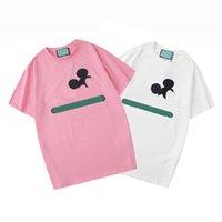 2021 Женщины Мужские Дизайнеры T Рубашки Футболты Мода Животное Письма Печать с короткими рукавами Леди Tees Luxurys Женская повседневная одежда