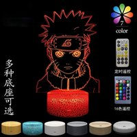 Takara Tomy Naruto Uzumaki Kakashi 3D Gece Lambası Modelleme LED Masa Lambası USB Arayüzü Doğum Günü Hediyesi Çocuk Oyuncakları