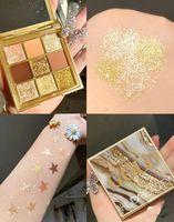 2021 Yüksek Kalite! Marka Maquillage Güzellik Göz Farı Makyaj Göz Farı Plating 9 Renk / PCS stokta Glitter