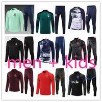 2021 Çocuklar + Erkek Tasarımcılar Eşofman Futbol Futbol Eğitim Takım Elbise Eşofman Survetement Ayak Chandal Futbol FC Barcelone Barcellona