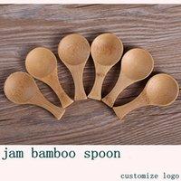 Colheres de bambu colheres de chá de tempero de tempero de tempero de tempero colher de medição 16 * 3 e 9 * 4.2cm estilo japonês de mesa de mesa de madeira colher de chá de madeira LLA755