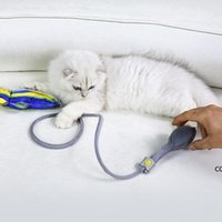 Floppy Fish Cat Kick Mastic Toy Interactive Catnip Realistic Manual Airbag M Wiggle Tail Gatito Almohada con Bell DHA7485