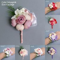 Bride Corsage Artificial Wedding Flower Lace Leaves Decoration Bridesmaid Wrist SP99 Decorative Flowers & Wreaths