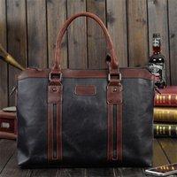 WholesaleLeather Messenger Bags Portfolio Shoulder Attache Handbag Crossbody Backpack Business Designer Laptop Men Briefcase Case