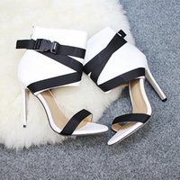 women's shoes 2021 summer fish mouth cross with fine super high heel sexy sandals fashion women slipper high quality size:35-41