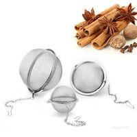 Stainless Steel Tea Pot Infuser Cooking Utensils Sphere Locking Seasoning ball Mesh Infusers Strainer Filter Tools T2I52012