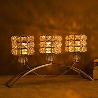 Кристаллические подсвечники 3 руки с держателем подсветки декоративные центры для гостиной столовая CF005