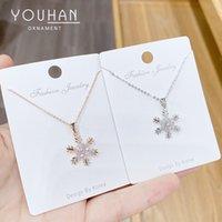 Ins style Snowflake Zircon Ожерелье Японский и корейский Инновационный Новый Trend Интернет Знаменитость То же Стиль Девушки Кливица цепь оптом