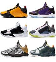 2021 autêntico Zk5 KB5 5S Bruce Lee Protro Sapatos ao ar livre Anéis Big Fase 5x Champ Lakers roxo ouro amarelo 2K20 Chaos Mamba ZK 5 V Mens Sneakers com caixa original