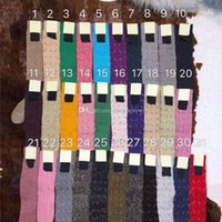 다채로운 편지 인쇄 여자 양말 패션 캐주얼 소녀 무릎 양말 위에 겨울 코튼 부드러운 긴 스타킹 여성용 35 색 옵션