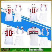 2021 São Paulo Soccer Jersey Adulto Kid Kids Kit 21 22 Dani Alves Pablo V.Bueno Smootball Camisa Terno Camisa de Futebol