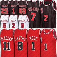 Lonzo Demar Ball Derozan Jersey Toni Derrick Kukoc Rose Jerseys Alex Zach Caruso Lavine Custom Chicagos Nikola Coby Vucevic Branco Camisas