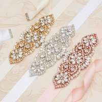 Wedding Sashes MissRDress Dress Belts Silver Diamond Belt Pearl Sash Flower Rhinestones Gown For Bridal With Crystals YS852