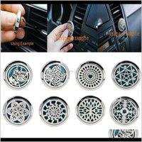 10 스타일 스테인리스 자동차 공기 배기 청정제 에센셜 오일 디퓨저 선물 SKCWL QVEFL