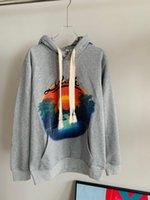 21FW Осенняя буква Баскетбол Четырехмерная узор Напечатанный капюшон Мужские женские пуловер и бархат размером на US свитер 0807
