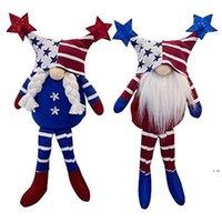 Patriotische Gnome Geschenke Independence Day Urlaub Dekoration Handgemachte skandinavische Tomte Elf Zwerg Gnomes Plüsch Puppe HWB6084